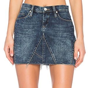 BlankNYC Distressed Denim Mini Skirt